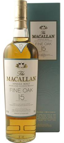 Macallan Fine Oak Scotch Single Malt 15 Year